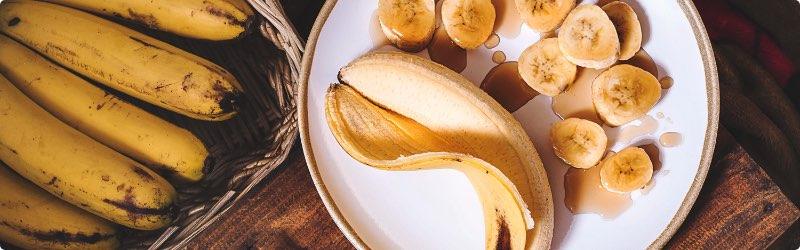 Banana and Honey on a Plate